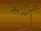 Báo cáo: Lạm phát ở Việt Nam và những biện pháp khắc phục
