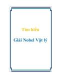 Tìm hiểu Giải Nobel Vật lý