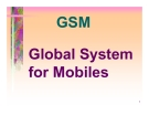 GSM Global System for Mobiles