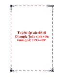 Tuyển tập các đề thi Olympic Toán sinh viên toàn quốc 1993-2005