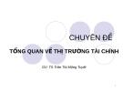 Bài giảng Tổng quan về thị trường Tài chính - TS.Trần Thị Mộng Tuyết