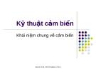 Bài giảng kỹ thuật cảm biến - Đào Đức Thịnh