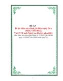 Đề án khảo sát, đánh giá hiện trạng Bưu chính, Viễn thông Và CNTT tỉnh Nghệ An đến hết năm 2005
