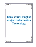 Bank exams English majors Information Technology