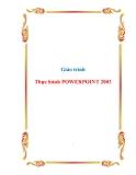 Giáo trình Thực hành POWERPOINT 2003