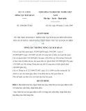 Quyết định Số: 2396/QĐ-TCHQ của Bộ Tài chính Tổng cục Hải quan