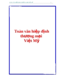 Tài liệu về Hiệp định thương mại Việt Mỹ