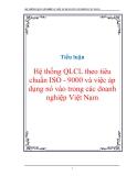 """Tiểu luận """"Hệ thống QLCL theo tiêu chuẩn ISO - 9000 và việc áp dụng nó vào trong các doanh nghiệp Việt Nam"""""""