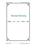 Tiểu luận Marketing: Quảng cáo trên truyền hình