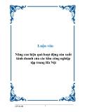 Luận văn Nâng cao hiệu quả hoạt động sản xuất kinh doanh của các khu công nghiệp tập trung Hà Nội