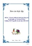 """Đề tài """"Công tác thống kê-đánh giá phong trào thi đua giữa các chi Đoàn ở Đoàn trường THPT Nguyễn Du năm học 2009-2010"""""""