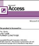 Bài thực hành Microsoft Access