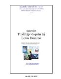 Giáo trình Thiết lập và quản trị Lotus Domino