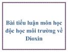 Tiểu luận môn Độc học môi trường: Dioxin