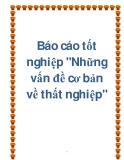Tiẻu luận: Những vấn đề cơ bản về thất nghiệp và việc làm ở Việt Nam