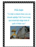 """Tiểu luận """"Cơ hội và thách thức của các doanh nghiệp Việt Nam trong quá trình hội nhập kinh tế quốc tế hiện nay"""""""