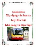 """Tiểu luận triết học """"Xây dựng văn hoá xe buýt Hà Nội - Khả năng và hiện thực"""""""