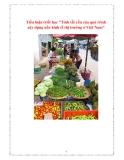 """Tiểu luận triết học """"Tính tất yếu của quá trình xây dựng nền kinh tế thị trường ở Việt Nam"""""""