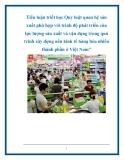"""Tiểu luận triết học Quy luật quan hệ sản xuất phù hợp với trình độ phát triển của lực lượng sản xuất và vận dụng trong quá trình xây dựng nền kinh tế hàng hóa nhiều thành phần ở Việt Nam"""""""