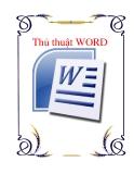 Thủ thuật về WORD 2010