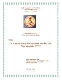 """Thảo luận """" Cơ hội và thách thức của sinh viên khi Việt Nam gia nhập WTO"""""""