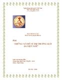 Đề tài: Những vấn đề về thị trường giày da Việt Nam