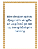 Báo cáo đánh giá tác động môi trường Dự án Lò giết mổ gia súc tập trung thành phố Đà Nẵng
