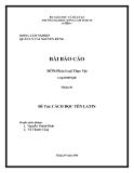 Bài báo cáo đề tài: Cách đọc tiếng Latin