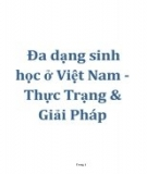Tiểu luận đề tài: Đa dạng sinh học ở Việt Nam - Thực trạng và giải pháp