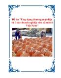 """Đề án """"Ứng dụng thương mại điện tử ở các doanh nghiệp vừa và nhỏ ở Việt Nam"""""""