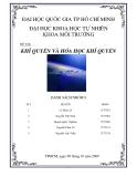 Báo cáo đề tài: Khí quyển và hóa học khí quyển