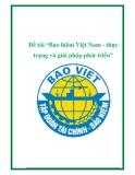 """Đề tài """"Bảo hiểm Việt Nam - thực trạng và giải pháp phát triển"""""""