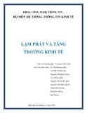 """ĐỀ TÀI """"LẠM PHÁT VÀ TĂNG TRƯỞNG KINH TẾ"""""""