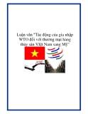 """Luận văn """"Tác động của gia nhập WTO đối với thương mại hàng thủy sản VIệt Nam sang Mỹ"""""""