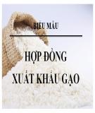 Mẫu Hợp đồng xuất khẩu gạo song ngữ Anh - Việt
