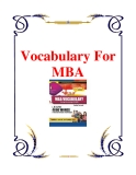 Vocabulary for MBA