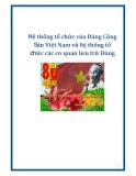 Hệ thống tổ chức của Đảng Cộng Sản Việt Nam và hệ thống tổ chức các cơ quan lưu trữ Đảng