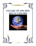 TÀI LIỆU ÔN THI MÔN ĐỊA LÝ NĂM 2009