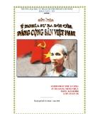 Tiểu luận: Ý nghĩa lịch sử sự ra đời Đảng cộng sản Việt Nam
