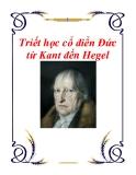 Tài liệu về Triết học cổ điển Đức từ Kant đến Hegel