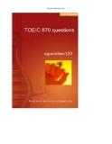 Ôn thi với TOEIC 870 questions