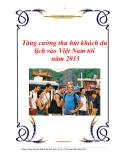 Tăng cường thu hút khách du lịch vào Việt Nam tới năm 2015