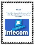 """Đề tài """"Hoạt động sản xuất kinh doanh và tình hình thực hiện lợi nhuận tại công ty INTECOM"""""""