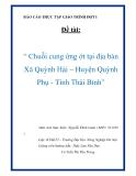 """Báo cáo thực tập giáo trình đợt I: """"Chuỗi cung ứng ớt tại địa bàn Xã Quỳnh Hải – Huyện Quỳnh Phụ - Tỉnh Thái Bình"""""""