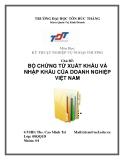 """Bài tiểu luận: """"Bộ chứng từ xuất nhập khẩu của doanh nghiệp Việt Nam"""""""