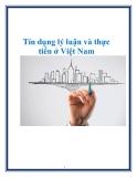 Tín dụng lý luận và thực tiển ở Việt Nam