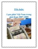 Tiểu luận: Lạm phát Việt Nam trong giai đoạn 2007-2009