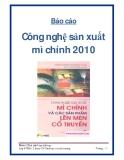 Báo cáo công nghệ sản xuất mì chính 2010