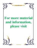 For more material and information, please visit