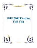 Sách 1995-2000 Reading Full Test